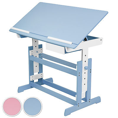 Kinderschreibtisch höhenverstellbar neigbar Jugendschreibtisch Schreibtisch - Höhe Verstellbarer Schreibtisch