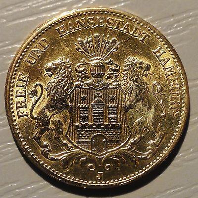 20,- GOLD - Mark 1906 J Deutsches Kaiserreich - Freie Hansestadt HAMBURG - vz -
