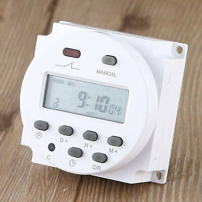Dc 12v Digital Lcd Power Programmable Timer Time Switch Relay 16a Amps W7e9