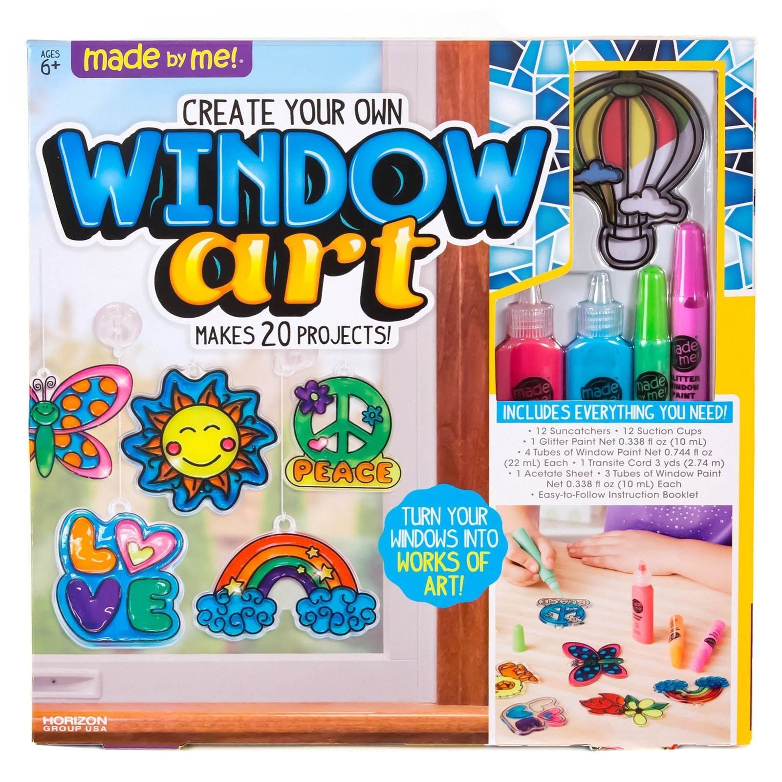 Create Your Own Window Art Made By Me 20 Projects Crafts Kids Ages 6 Up