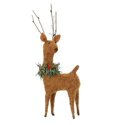 Deer Christmas Felt Standing Decoration 23 cm High Sass and Belle  - Brand New ()
