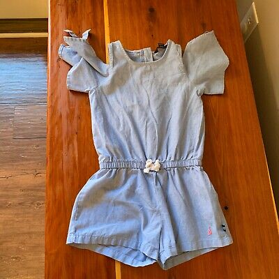 Nautica Toddler Girl's Chambray Romper Size 4T