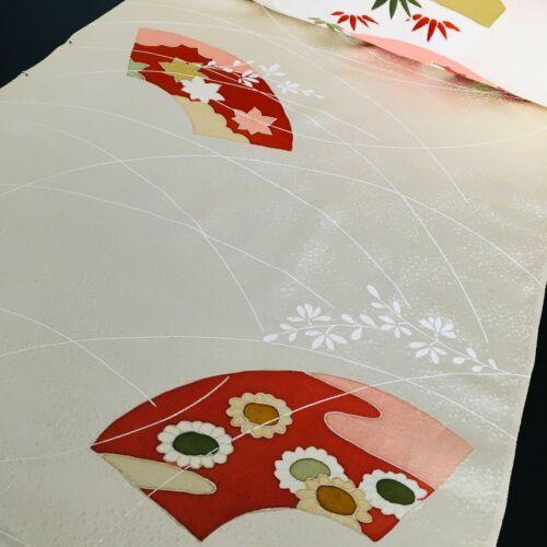 Geisha Chirimen Silk WHOLE Bolt Japanese Kimono Fabric Panel Authentic BS85