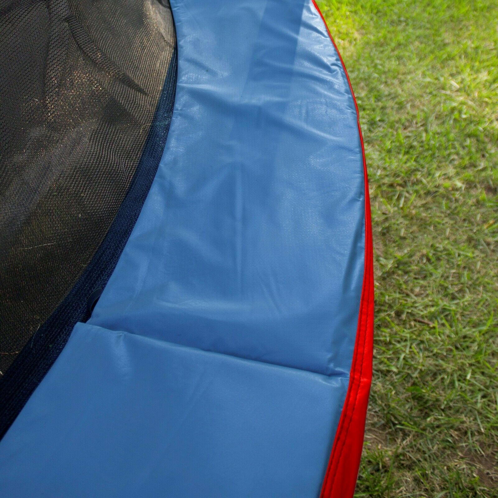 BOUNCE PRO 12FT TRAMPOLINE SPRING COVER, BLUE/RED