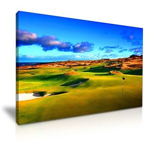 Beautiful St. Andrews Old Golf Course Canvas Wall Art Picture Print 76x50cm