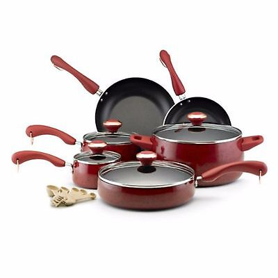 Food Network Cookware Paula Deen Pots And Pans Set The Best Nonstick Red (The Best Pots And Pans Set)