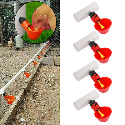 4pcs Water Drinking Cups Chicken Waterer Automatic Poultry Drinkers T3