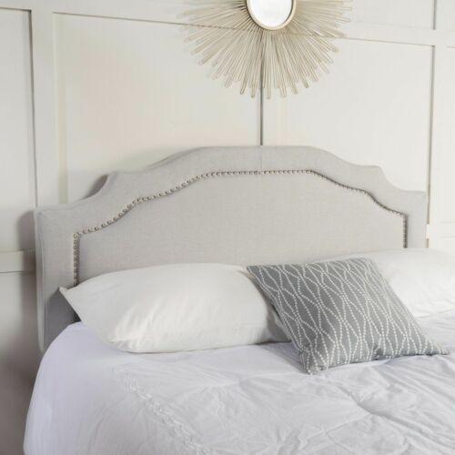 Broswell Light Grey Fabric Queen/ Full Headboard Beds & Mattresses