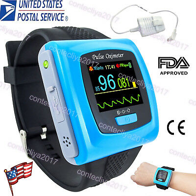 Contec Cms50f Wrist Watch Pulse Oximeter Heart Rate Monitor Software Spo2 Probe