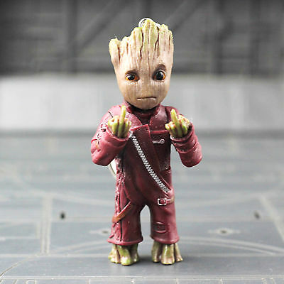 Guardians Of The Galaxy Hand Pvc Figure Key Chain Figur Ib Vol 2 Baby Groot Toy