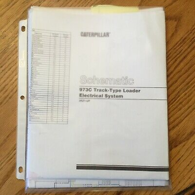 Cat Caterpillar 973c Electrical Wiring Schematic Tractor Service Manual Sn 3rz