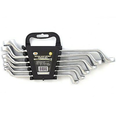 6 PIECE METRIC DOUBLE OFFSET BOX END RING 10-22mm WRENCHES Tool Set 84270