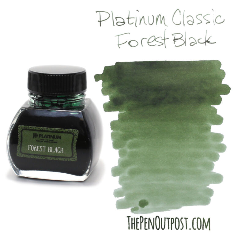 Platinum Classic Ink - 60ml bottle - Forest Black - Iron Gall