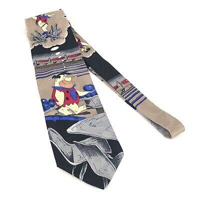 Fred Flintstone Hanna Barbera Bowling Men's Tie 100% Silk Made In Italy (Flintstones Bowling)