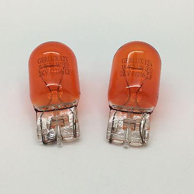 2 x 585 WY21W Amber Capless Front Indicator Light Bulb 382WA 12v 21w Push Fit