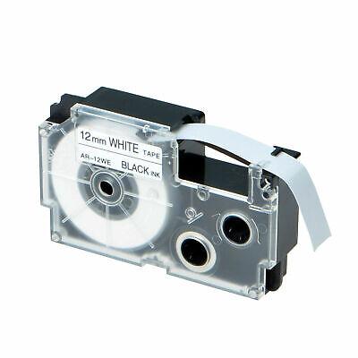 1-pkpack Xr-12we For Casio Label Tape Black On White 12mm 12 Kl430 Kl-100