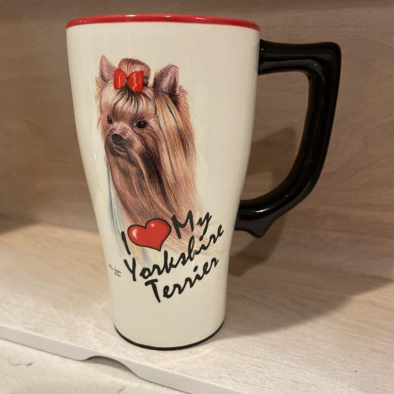 Spoontiques I Love My Yorkshire Terrier Ceramic  Mug  No Lid.  NWOT