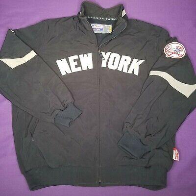 NEW YORK YANKEES MAJESTIC THERMA BASE LIGHTWEIGHT JACKET NAVY BLUE  XL SIZE