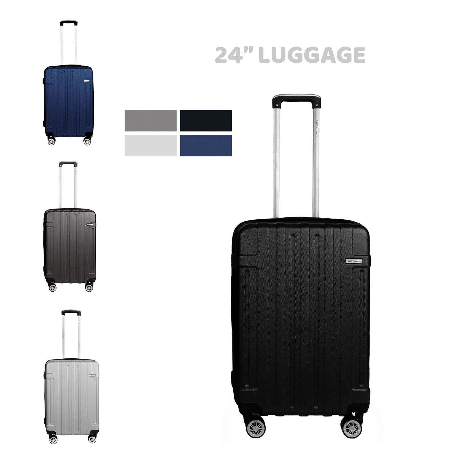 cabin suitcase carry on abs 4 spinner