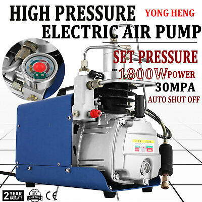 110v 30mpa Electric Air Compressor Pump High Pressure Auto Shutdown Yong Heng