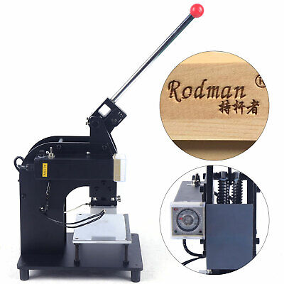 10x15cm Hand Operated Hot Foil Stamping Machine Leather Pu Logo Stamper Bronzing