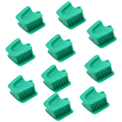 10pcs Dental Silicone Mouth Prop Bite Block Rubber Opener Retractor Large Green