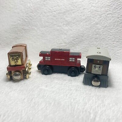 """Thomas the Tank Engine Set of 3-""""60 Year"""" Edition Diesel/Sodor Line Caboose/Toby"""
