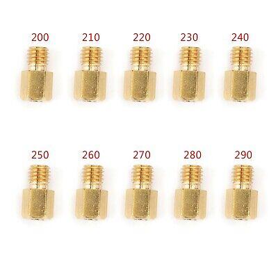 10PCS Hex Type Main Jets For MIKUNI VM/TM/TMX Carburetor 200-290 220 250 -