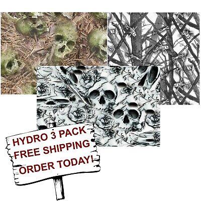Hydrographic Film Water Transfer Printing Film Hydro Dip Skull Camo 3 Pack