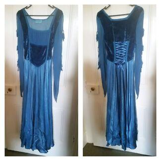 Hippy boho gypsy medieval blue enchantress medium-sized dress  Hamilton Newcastle Area Preview