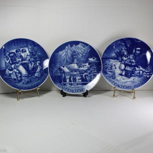 Vintage Bareuther Waldsassen Christmas Collector Plates Weihnachten set of 3