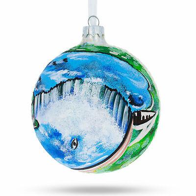 Niagara Falls USA Canada Border Glass Ball Christmas Ornament 4 (Glasses Usa Canada)