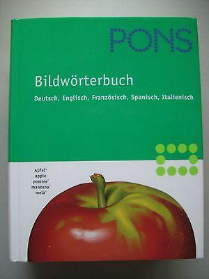 Pons Bildwörterbuch 2003 vier Sprachen Reisewörterbuch