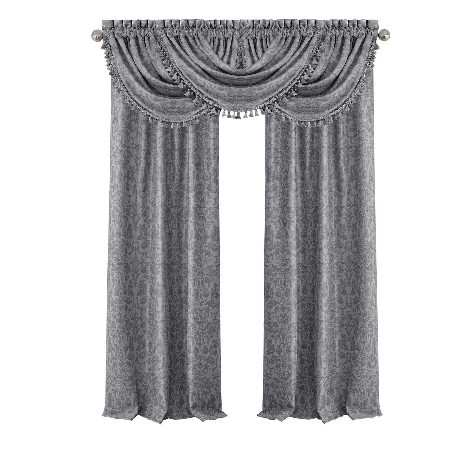 "95"" window Curtain set Includes Waterfall Valance Elrene Ant"