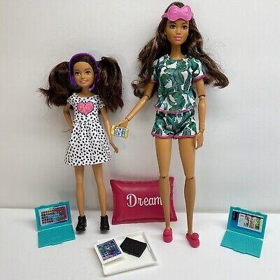 Barbie Team Stacie Gamer Tech-Saavy DreamHouse GBK55 + Relaxation Doll GJG58 Lot