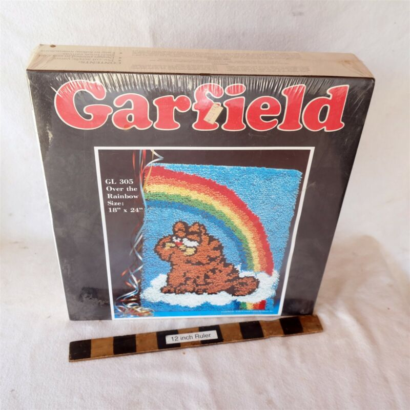 "Vtg New Old Stock Garfield Hook & Latch kit 18x24"" Sealed GL 305 Rainbow"