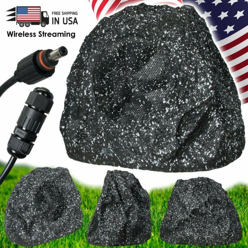 Gravity Waterproof Wireless 400W Outdoor Rock Speaker with - Granite Work w/ BT