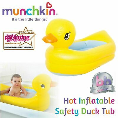 Munchkin Caliente Inflable Seguridad Pato Bañera │Plegable Agua Fun │ para 6-24