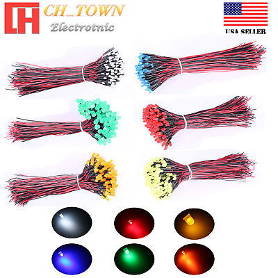 3mm 5mm 8mm 10mm Pre Wired Led Dc 9-12v Volt Diffused Mini Miro Lights Diodes