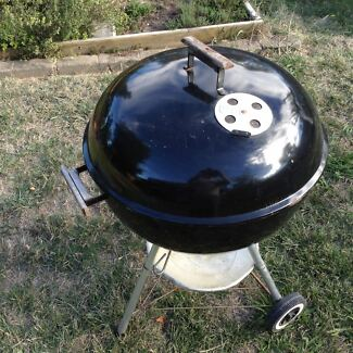 Weber one touch silver kettle BBQ black