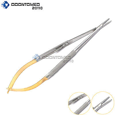 Castroviejo Needle Holder 18 Cm With Lock Tc Gold Surgical Suture Straight