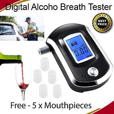 New LCD Digital Police Breath Breathalyzer Test Alcohol Tester Analyzer Detector