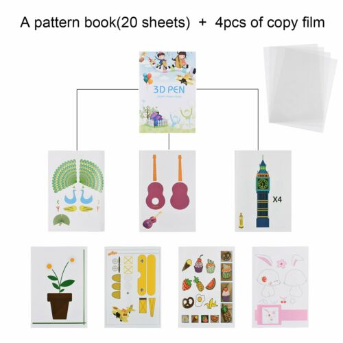 3d muster buch Obst Tier Pflanze Bild für 3D Druckstift Drucker +4 Film kopieren