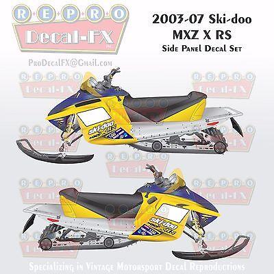 2004 Ski-doo MXZ800HO Black Hood /& Tail Rev Reproduction Vinyl Decal Set 16Pc