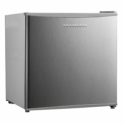 Cookology MFR45SS 46 Litre Brushed Steel Effect Tabletop Mini Fridge & Ice Box