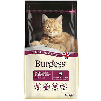 Burgess Supa Cat Mature with Turkey & Cranberry 1.4Kg - Senior Cat Food