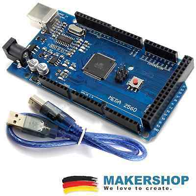 Mega 2560 R3 Starter Set - Arduino Komp. Board Atmel Atmega2560 Usb Kabel