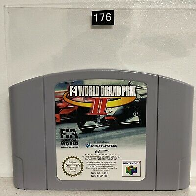 F1 World Grand Prix II 2 Nintendo 64 N64 Game Cartridge PAL Oz176