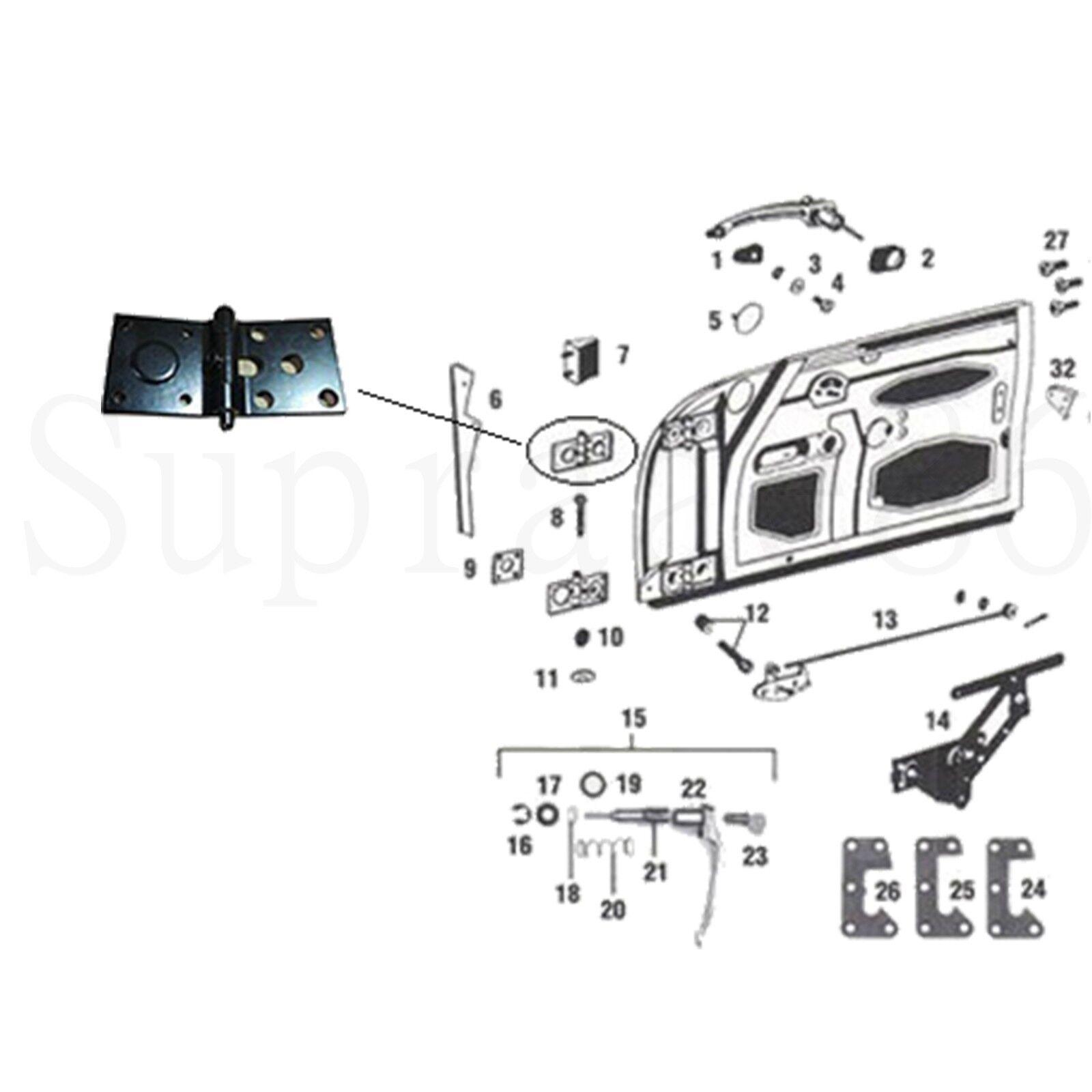 1962 1965 Porsche 356 B T6 356c Door Hinge Upper Right 64453103204 356a Wiring Diagram