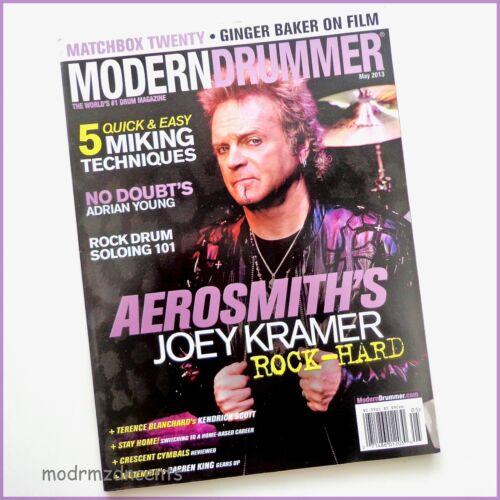 MODERN DRUMMER - May 2013 - JOEY KRAMER - AEROSMITH + Ginger Baker